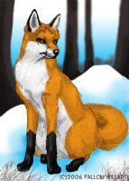 Remember that fox sketch? by MagicKitsune