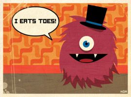 The Toe Monster Print Version by noakrank