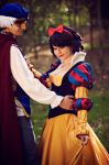 Prince Florian and Snowwhite Dancing by LeydaCosplay