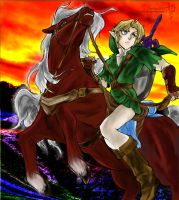 Link and epona by ButterflyBlu122