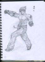 Jin Kazama Sketch by BaiHu27