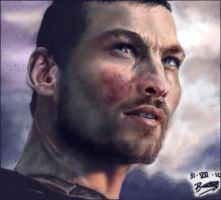 SPARTY-color-Andy Whitfield by ladarkfemme