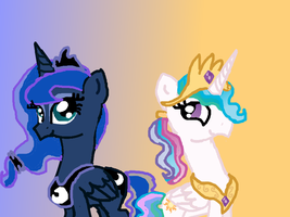 Ponytails: Royal Sisters by HyperNerd13