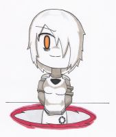 Chibi GLaDOS Portal 2 B by animeandrew1