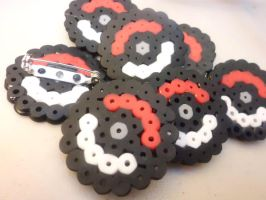 Mini Pokeball Pins by AshersAbsolution