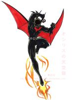 Batman Beyond copics by slifertheskydragon