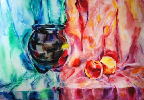 Still Life Watercolor by aydanhasanova