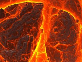 Burning Volcanic Rock by crotafang