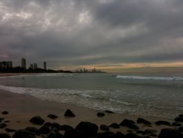 The Coast from Burleigh by Lupus-deus-est