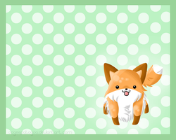 Kawaii Fox Background by Oogeepatogoa