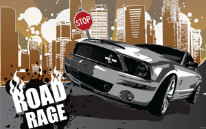 Road Rage - Vector Art by 00chaos8