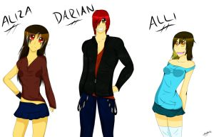 Alena and Dylan's Kids: Aliza, Darian, and Alli by MysticAzelf