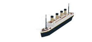 Lego Titanic by JAWS12413