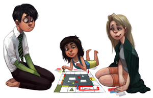 Family Board Game by Leerer-Raum