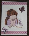 Popcorn cross stitch by MadeByJanine