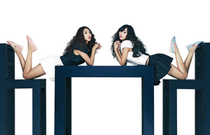 Bora y Hyorin (Sistar) PNG [Render] by GAJMEditions