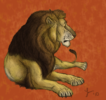 Lion - Repose by Cheddarness8