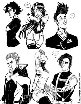 A-Gents - Art Requests by AnimeDumbass