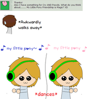 MY LITTLE PONY xD *dare 10* Pewds and Cry dare by Ask-the-BroArmy