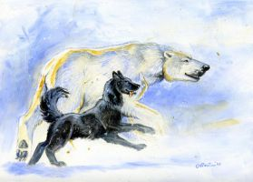 White Bear, Black Dog colour by Hbruton