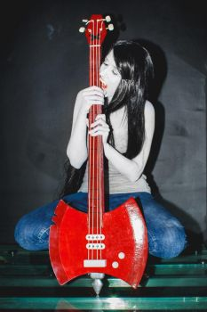 Marceline cosplay - sucking all read? no by SheraRut