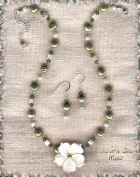 Spring Necklace and Earrings by jonara