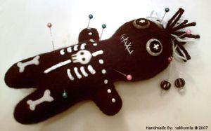 Voodoo Plushie Pin Cushion by Yakkomia