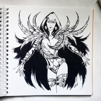 Instaart - Raven (NSFW optional) by Candra