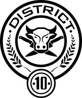 District 10 Seal by trebory6 Hunger Games Capitol Seal Vector