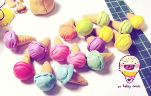 pastel icecream charms by KPcharms