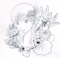 Lineart - Flowers by Kherohi