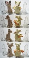 Gen 1 Chess White Bishops by ChibiSilverWings