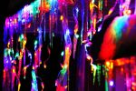 Colored icicles in the night by 0124nathan