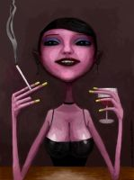 Wine and Cigarette 2010 by crow0