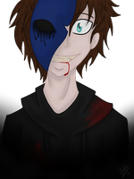 Eyeless Jack :COLORED: by InkQueenPilus
