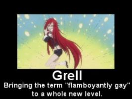 Grell motivational poster by Atikal