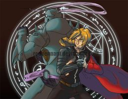 FMA: Elric Brothers by redpennant