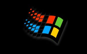 Black Windows 98 Flag Wall 1 by slowdog294