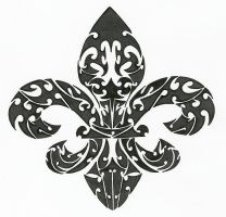 Fleur De Lis Tribal by SovereignImpresario