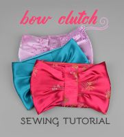Sewing Tutorial - Zippered Bow Clutch by SewDesuNe