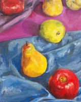 Color still life of fruit by Fred-Weasley