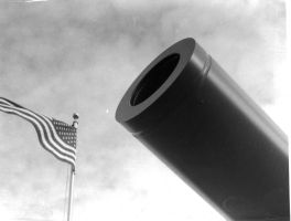Cannon and Flag by Sir-Real