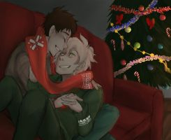 SDR2: warm sweaters and a scarf by xShieru