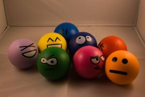 Stress Balls Group Shot by Nap-The-Firestarter