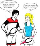 Betty and Reggie Playing Tennis by sintah