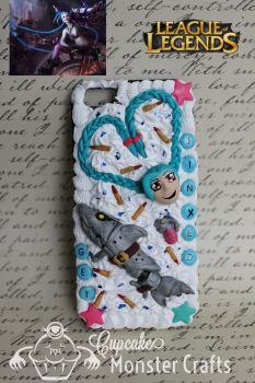 Get Jinxed Kawaii Decoden Cell Phone Case by CupCakeMonsterCrafts