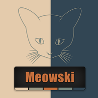 Logo for Meowski Music by redxpoison