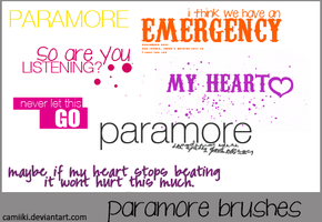 Paramore Brushes by camiiki