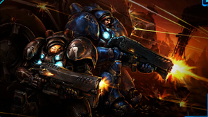 StarCraft 2 - Raynor y Findlay by Shadow047