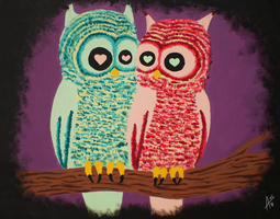 Owl Couple by weirdklown